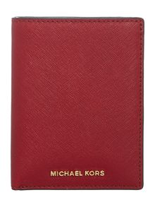 Michael Kors Red passport holder and luggage tag gift set