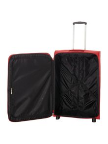 Linea Hamilton red 2 wheel soft large suitcase