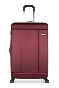 Antler Pluto red 4 wheel hard large suitcase