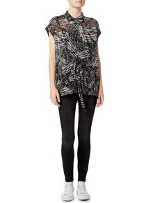 Label Lab Rubin feather print top