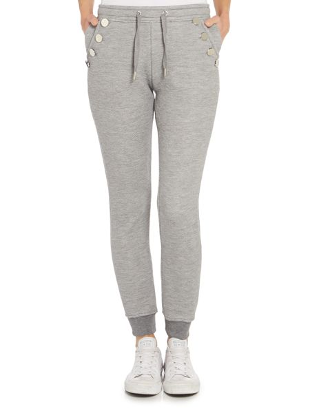 Zoe Karssen Slim fit button detail jogger