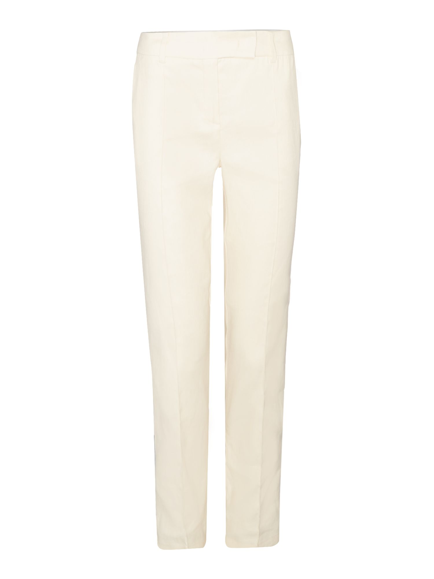 Marella COMUNE Slim leg linen mix trouser, Cream