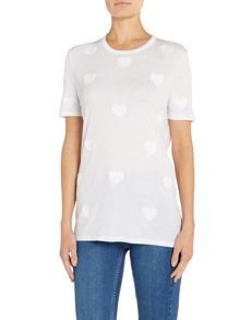 Zoe Karssen Short sleeve heart patch t-shirt