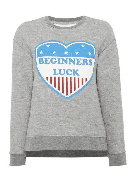 Zoe Karssen Long sleeve beginners luck sweatshirt