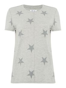 Zoe Karssen Short sleeve star print t-shirt