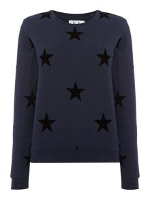 Zoe Karssen Long sleeve star print sweatshirt