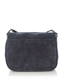 Pieces Fayth navy tassle satchel bag