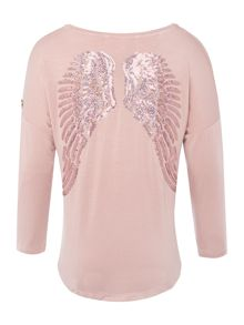 Angel's Face Girls Long Sleeve Top Wings