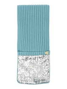 Angel's Face Girls Sequin Scarf mitten