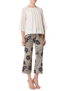 Marella NOCERA Printed slim leg trouser with kick hem