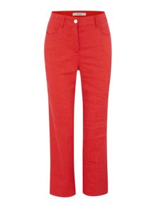 Marella Atlanta linen mix trouser with kick hem