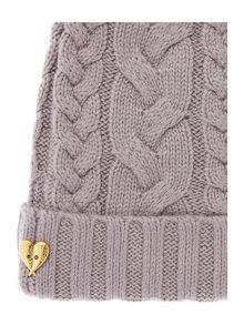 Angel's Face Girls Cable Hat with Pom Poms