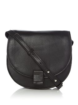 Falala black large saddle crossbody bag