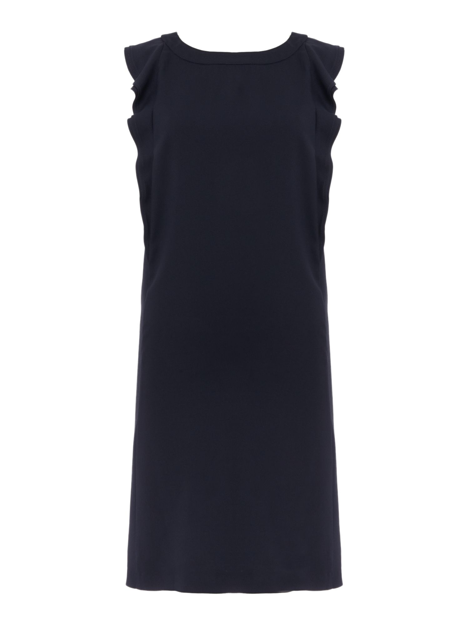 Marella BASCO crepe dress with ruffle detail, Midnight Blue