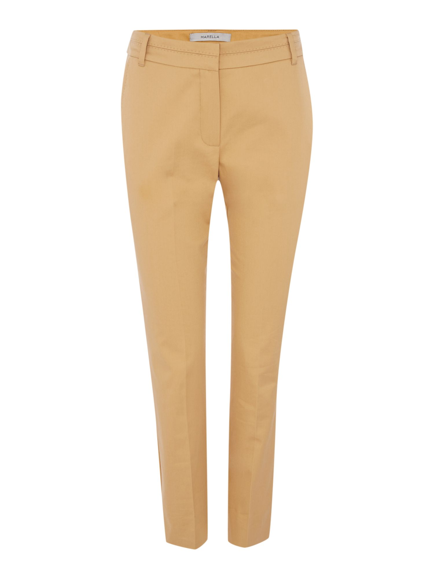 Marella PIRANO lightweight slim leg trouser, Tobacco