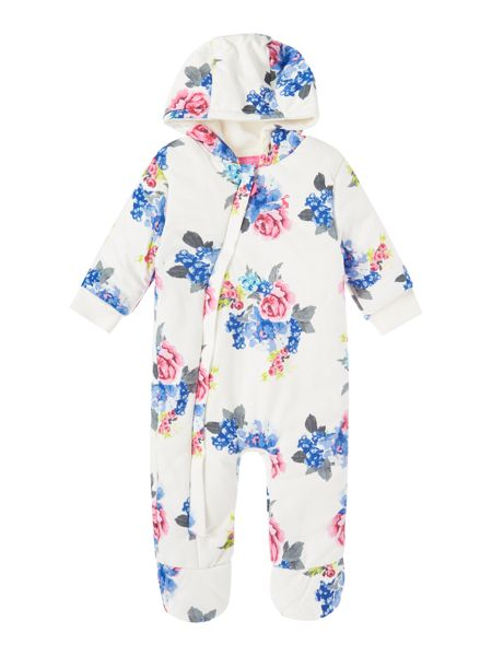 Joules Babygirls Long Sleeve Floral Pramsuit