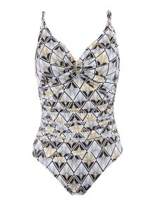 Biba Geo peacock icon swimsuit