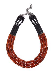 Marella ECRU tortoise shell necklace