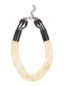 Marella ECRU mixed bead and pear necklace