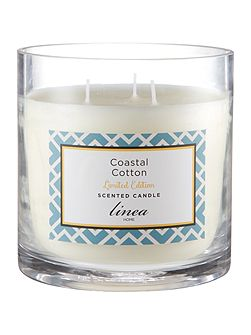Coastal Cotton 3 wick candle