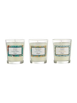 Summer votives set of 3