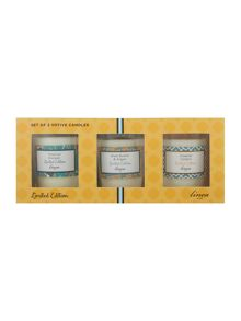 Linea Summer set of 3 votives