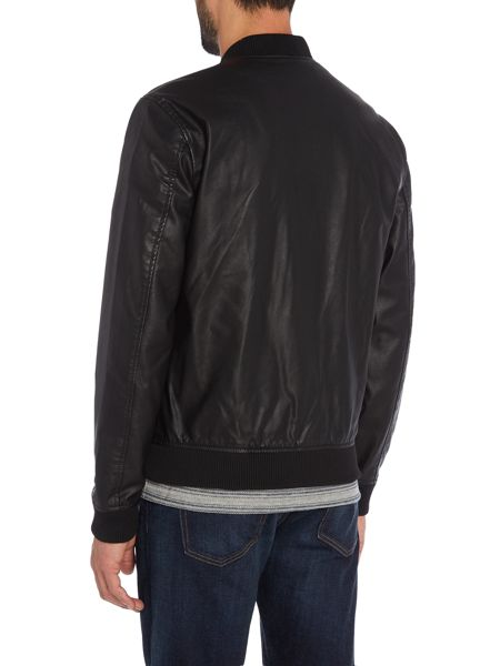 Jack & Jones Zip-Through PU Bomber Jacket