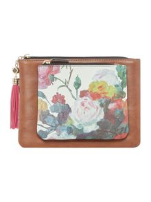 Disaster Petal floral print flap over purse