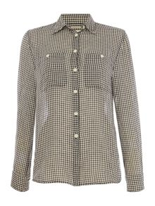 Denim and Supply Ralph Lauren Long sleeve gingham shirt in kassy check