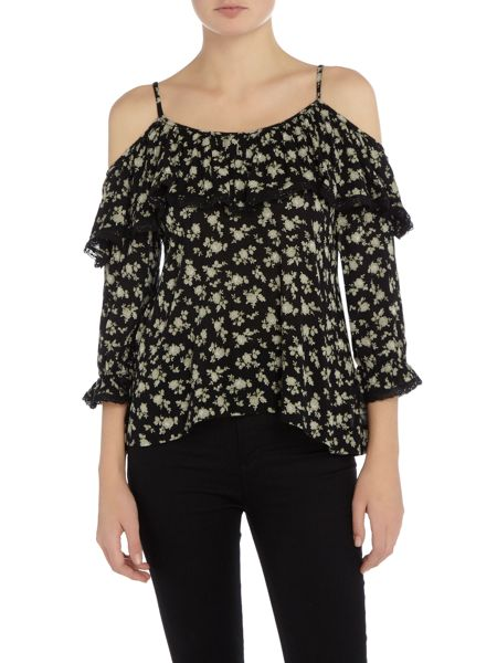 Denim and Supply Ralph Lauren Off the shoulder floral top