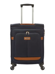 Samsonite Caphir navy 4 wheel soft cabin suitcase