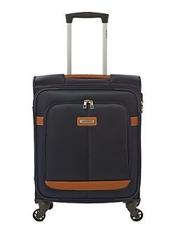 Caphir navy 4 wheel soft cabin suitcase