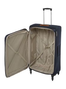 Samsonite Caphir navy 4 wheel soft large suitcase