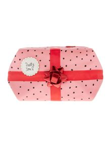 Disaster Pink pom pom cosmetic bag