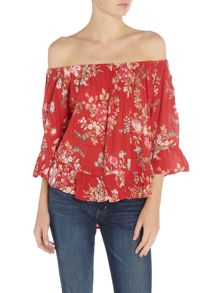 Denim and Supply Ralph Lauren Boho floral blouse in sutter floral