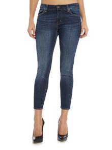 Denim and Supply Ralph Lauren Dark wash crop skinny jean with frayed hem