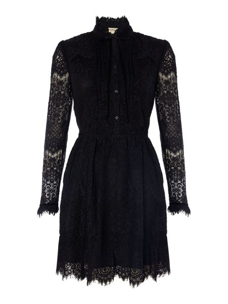 Denim and Supply Ralph Lauren Long sleeve lace dress in black
