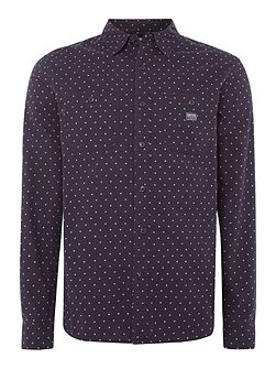 2 Pocket all-ovber printed long sleeve shirt