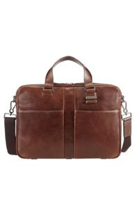 Samsonite West harbor brown leather bail handle