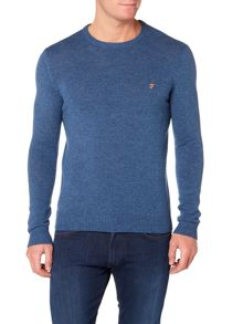 Farah Rosecroft lambswool crew neck jumper