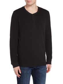 Jack & Jones Cotton Plain Crew-Neck Long-Sleeve T-shirt