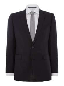 Hugo Astian Hets Slim Fit Tonal Checked Two Piece Suit