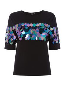 Lost Ink Shortsleeve Exaggerated Top