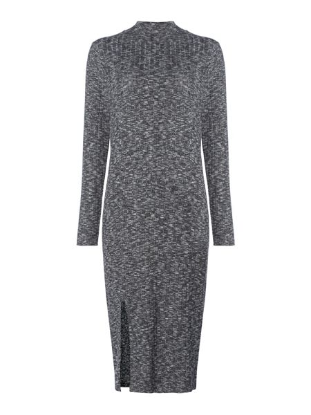 Label Lab Riker charcoal brushed high neck knitted dress