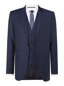 Arney Wave Print Three Piece Suit