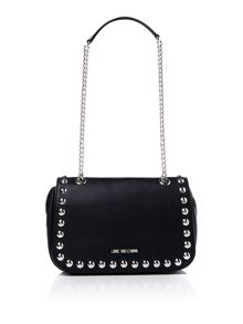 Love Moschino Stud flapover bag