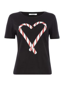 Pieces Candy cane print pyjama t-shirt