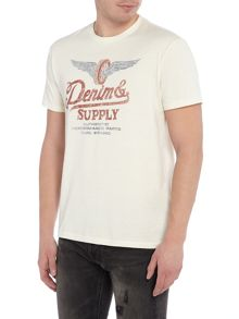 Denim and Supply Ralph Lauren Logo print short sleeve t-shirt