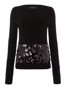 Lost Ink Longsleeve Knitted Sequin jumper