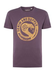 Denim and Supply Ralph Lauren Snake print t-shirt